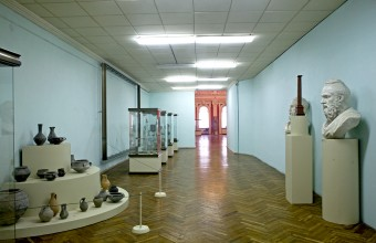 Ilya Rabinovich Corridor documenting Moldova's history from the second to the fourteenth century in the National Museum of History and Archaeology of Moldova