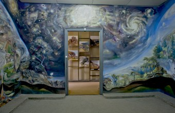 Ilya Rabinovich An exhibition room of the National Museum of Ethnography and Natural History showing a section of one of the four murals painted by Ion Daghi