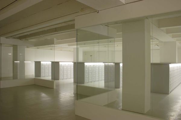 Wesley Meuris, The World's Most Important Artists, 2009, Installation, 660 drawers with unique codes. Photographies by Hervé Beurel. Image © Wesley Meuris and Hervé Beurel. Used here by kind permission from the artist. All rights reserved.