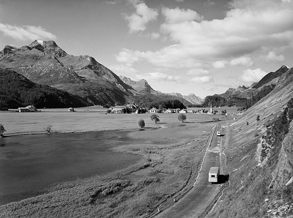 Silser flood plain and Sils-Baselgia. Photo: Andreas Pedrett/© Max Galli/Documental Library St. Moritz