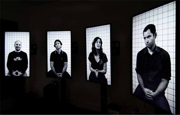Herwig Turk, the conversation that never took place, four-channel video installation, 2013. Image © Herwig Turk. Used here by kind permission from the artist. All rights reserved.