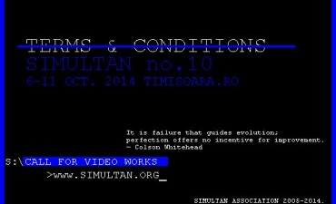 Simultan Festival #10 – Call for Video Works