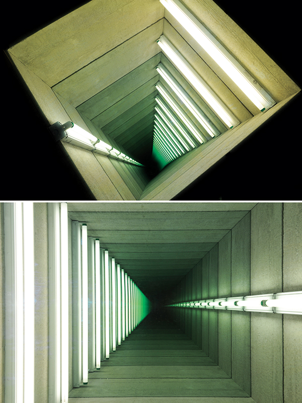 Chul-Hyun Ahn, Tunnel 6, 2012. Cinderblocks, mirrors, lights. Size: 51x102x102 cm. Courtesy of Galerie Paris-Beijing. All rights reserved.