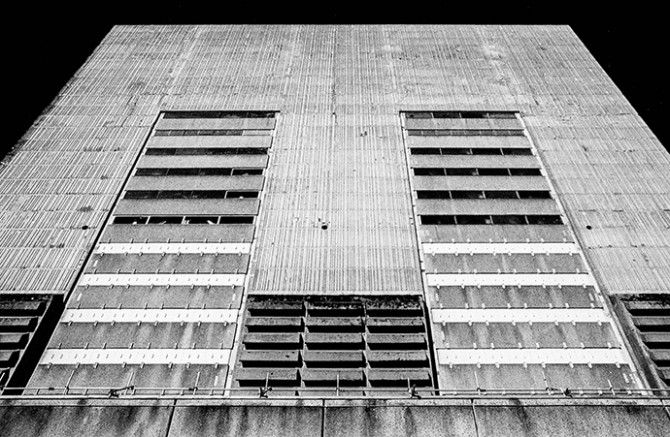 Trawsfyndd Nuclear Power Station External Wall, Snowdonia, Wales. Image courtesy of James Ginzburg. Image © Emptyset. Used here by kind permission from Emptyset and MoTA. All rights reserved.