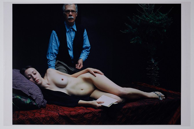Jeffrey Silverthorne, Self-portrait with Rachel, 2006 © Jeffrey Silverthorne, courtesy Galerie VU'. Used here by kind permission from FotoMuseum Antwerp. All rights reserved.