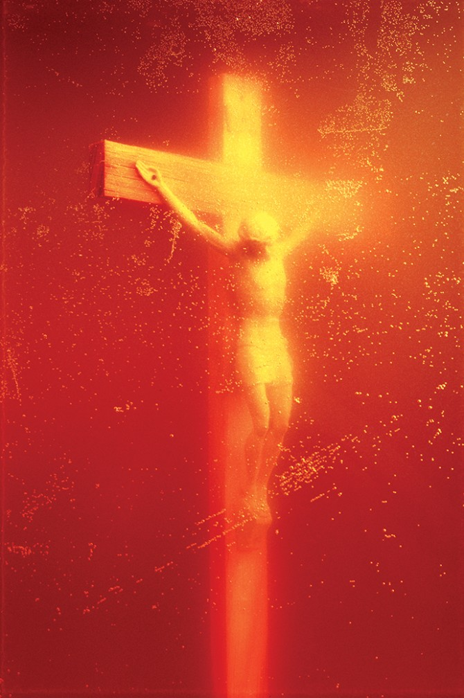 Andres Serrano, Piss Christ, 1987 © Courtesy Andres Serrano & Galerie Nathalie Obadia, Paris/Brussels. Used here by kind permission from Fotografiska. All rights reserved.