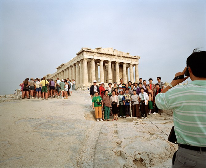 From Small World, Acropolis, Athens, Greece, 1991 © Martin Parr / Magnum Photos. Used here by kind permission from Fotografiska. All rights reserved.