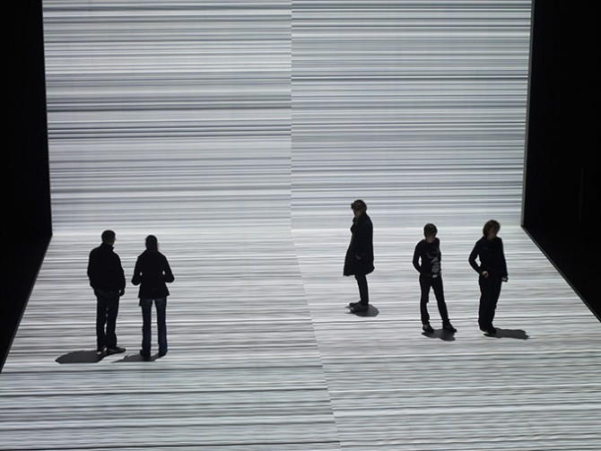 Ryoji Ikeda, Testpattern n3-1. Image © Ryoji Ikeda / ZKM | Center for Art and Media, 2015. Used here by kind permission from ZKM | Center for Art and Media. All rights reserved.