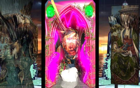 Alfredo Salazar-Caro, Triptych AKA Miami Booty Bass Remixxx, video art, 2014. Image courtesy of REVERSE. All rights reserved.