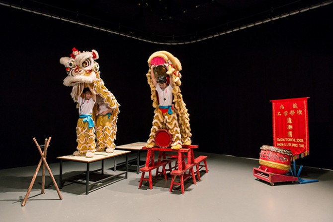 Samson Young, Muted Situations #2: Lion Dance, 2014. Single-channel video, 7'21