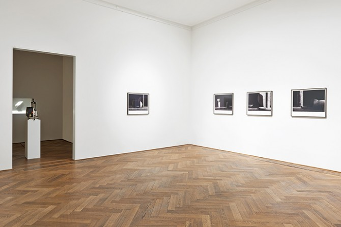 Erin Shirreff, installation view, Halves and Wholes, Kunsthalle Basel, 2016. Photo: Philipp Hänger