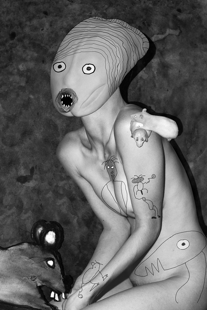 Roger Ballen / Asger Carlsen, No Joke, 2016. Courtesy of the artists and DITTRICH & SCHLECHTRIEM. All rights reserved.