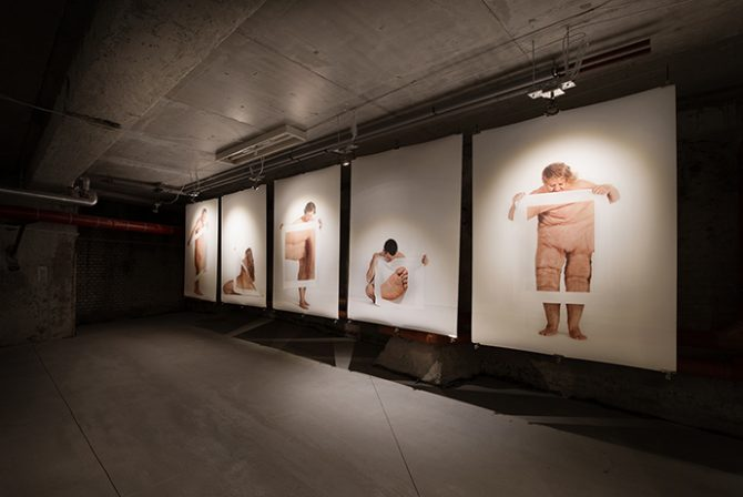 Body exhibition, curated by Dorota Stępniak, 2016. Exhibition view at Pokoyhof Passage, Wroclaw (Poland). Image provided by Karolina Kubala, project coordinator of the exhibition. Used here by kind permission. All rights reserved.