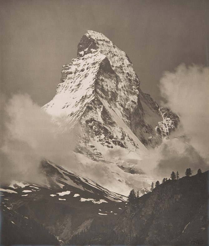 Charles Charnaux, The Matterhorn, 1910-1920 © Musée de l'Elysée, Lausanne, Colle ion of the Musée de l'Elysée. Used here by kind permission. All rights reserved.