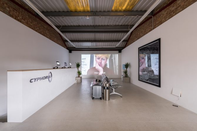 Stine Deja, Cyphoria, installation view at Annka Kultys Gallery in London, March 22 - April 22, 2017. Image courtesy of Annka Kultys Gallery. All rights reserved.