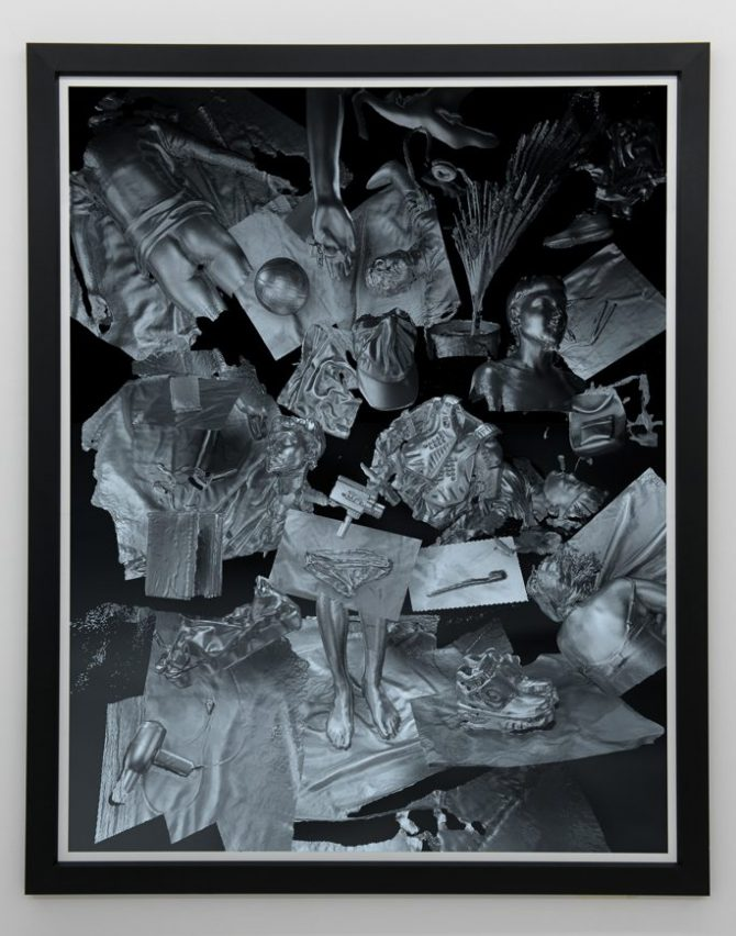 Stine Deja, Electronic Nomad, 2015. Archival Inject print on Velvet 250 gsm. 197.6 x 158 cm (77 3/4 x 62 1/4 in) (framed). Edition of 3 + 2AP (SDej002.15). Image courtesy of Annka Kultys Gallery. All rights reserved.